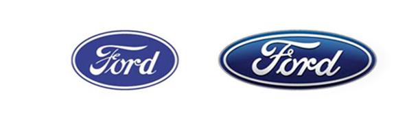 福特logo矢量图黑白